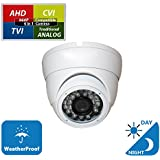 Evertech 960P 1.3MP Full HD Home Security Cameras with IR LED Night Vision Indoor Outdoor Surveillance Camera Manual Zoom 4in1 AHD TVI CVI and Traditional Analog DVR