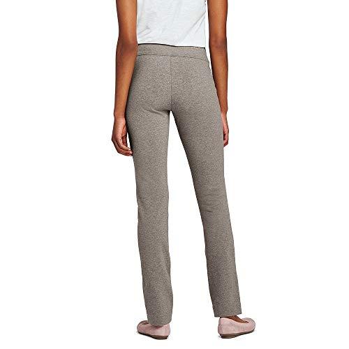 Lands' End Women's Petite Starfish Slim Leg Elastic Waist Pants Mid Rise, S, Alpaca ()