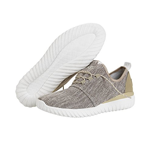 Dude Shoes Mens Renova Woven Beige Urban Trainer Beige