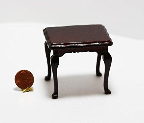 ドールハウスミニチュア1 : 12マホガニーSideテーブルW / Ornate Carvedエッジ B01LW2SY3C