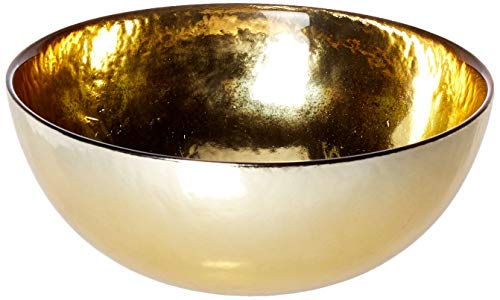 Circleware 09321 Metro Metal Serving Mixing Fruit Bowl, Home and Kitchen Decoration Dish Serveware for Salad, Cake, Ice Cream, Dessert, Food, Punch, Beverage, Best Selling Gifts 7.8