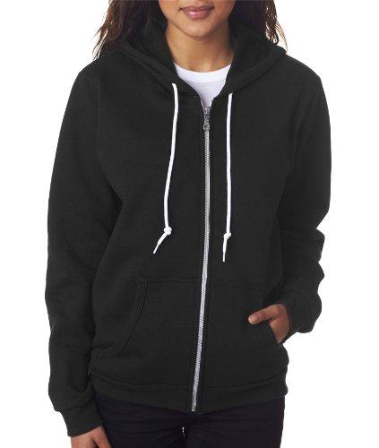 Wholesale Zip Up Hoodies (Anvil 71600FL Ladies Full-Zip Hooded Fleece - Black44; Small)