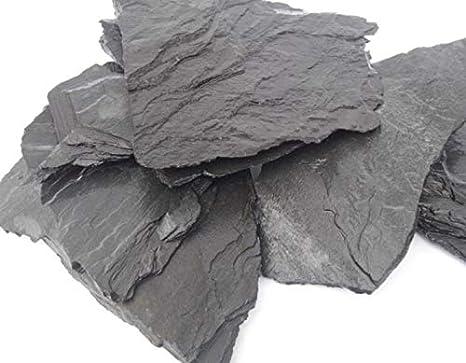 TM Aquatix Pizarra Natural para Acuario, Piedra de decoración para Acuario, Roca