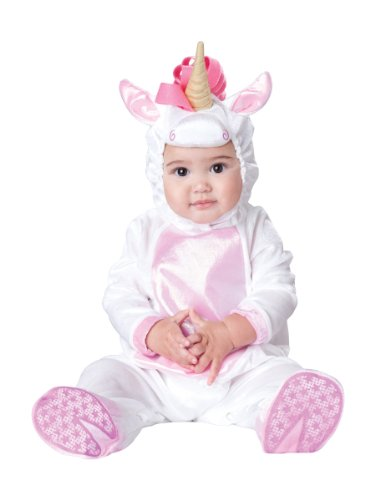 InCharacter Costumes Baby Girls' Magical Unicorn Costume, White/Pink, Small