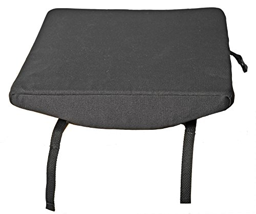 Black Water-resistant, Rain-proof Seat Cushion for Bleachers stand, Car seat, Camping Chair, Wheelchair, Hunters Blind Tree Stand Bench, Tractor - Buckle Square Covered