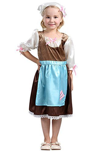 All Costumes For Girls (Ma&Baby Little Girl's Mesh Sleeve Princess Party Dress Up Fancy Dress Costume (L/For 5-6 Years, Gray))