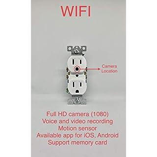 Wall Outlet Hidden Full HD WiFi Camera