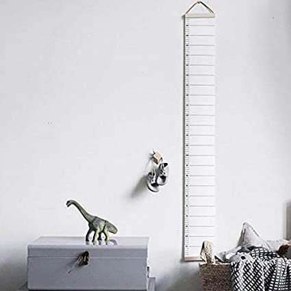 Paper Wall - Safe Nordic Style Wallpaper Simple Wooden Measurement Ruler Kids Height Growth Chart Record