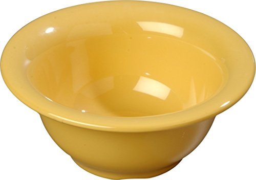 Carlisle 3303822 Sierrus Melamine Rimmed Nappie Bowls, 10-oz, Honey Yellow (Set of 24)