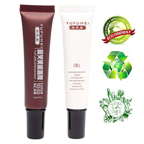 eup cover up Cover Bruises Age Spots,scar concealer Professional Waterproof,Skin Dark Spots Hiding Cream Kit ()