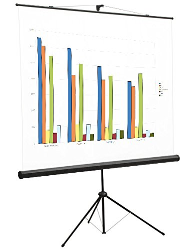 """Schermo Proiezione su Treppiede 150x150cm, Telo da Videoproiettore a Cavalletto Manuale con Stativo 150 x 150cm """"Light"""" ottimo per ogni Proiettore 100% Professionale di Qualità Superiore HD! PROVIS S05055"""