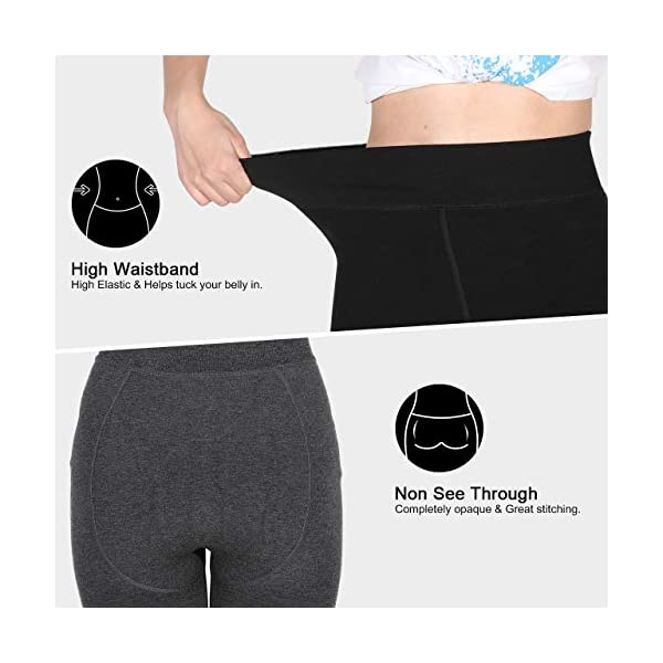 Tencoz Legging Chaud Femme, Legging Thermique Femme Legging hiver 2 Pack, Élastiques Velours Doublé Taille Haute pour…
