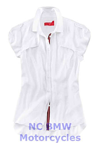 BMW Genuine Motorcycle Women Dynamic Shirt Shirt Blouse White Size S (Bmw 3 Series Engine Oil Top Up)