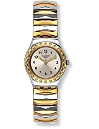 Swatch Women's 25mm Multicolor Steel Bracelet & Case Quartz Silver-Tone Dial Analog Watch YSS302A