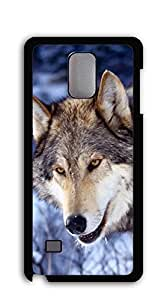 TUTU158600 Plastic Phone Case Back Cover case for samsung galaxy note 4 for girls - Painting Old Wolf