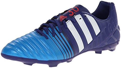 Adidas Performance Nitrocharge 3.0 superficies firmes de fútbol de la grapa, Amazon púrpura / marc Amazon Purple/Running White/Solar Blue