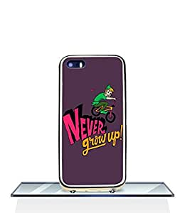 JenniferLi - Disney Peter Pan Never Grow Up Iphone 5 Funda Case - [2 in 1] TPU and Plastic Combine Skin Snap On Durable Rugged Funda Case cover for Iphone 5 5s