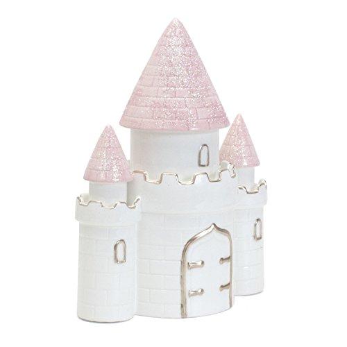 Child to Cherish Ceramic Dream Big Princess Castle Piggy Bank for Girls, Pink by Child to Cherish (Image #1)