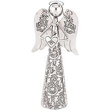 """Regal Art & Gift Heart Angel Bell, 8"""""""