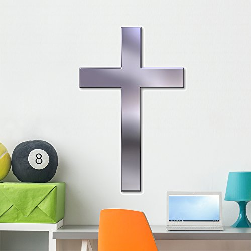 (Wallmonkeys Christian Cross Wall Decal Peel Stick Graphics (36 in H x 27 in W) WM199407)