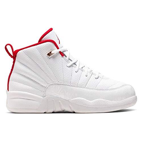 Jordan Nike Air 12 Retro PS FIBA White/Red/Gold 151186-107 (Size: 11C)