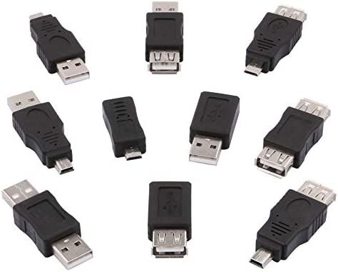 Computer Cables 10pcs//Lot USB Male to Micro USB Female Converter Connector Male to Female Adapter Cable Length: Other