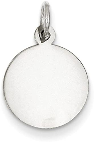 .925 Sterling Silver Engraveable Oval Disc Charm Pendant