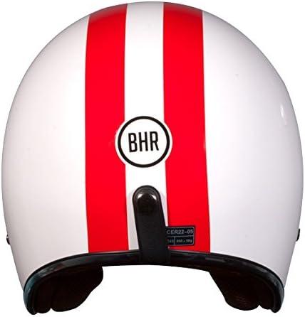 BHR Demi-Jet Modell 711 Helm 61 rot//wei/ß