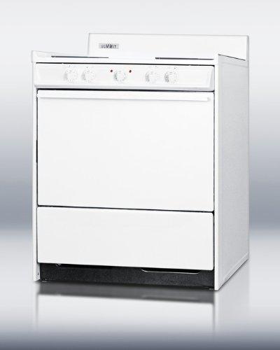 Summit WEM210 Kitchen Electric Cooking Range, White