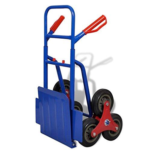 vidaXL-Diable-6-Roues-Rouge-et-Bbleu-Capacit-de-Charge-150kg-Chariot-Brouette