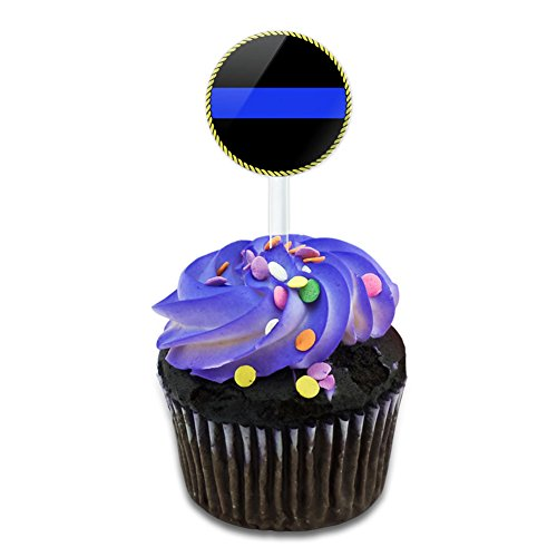 Cookware Lines (Thin Blue Line Cake Cupcake Toppers Picks Set)