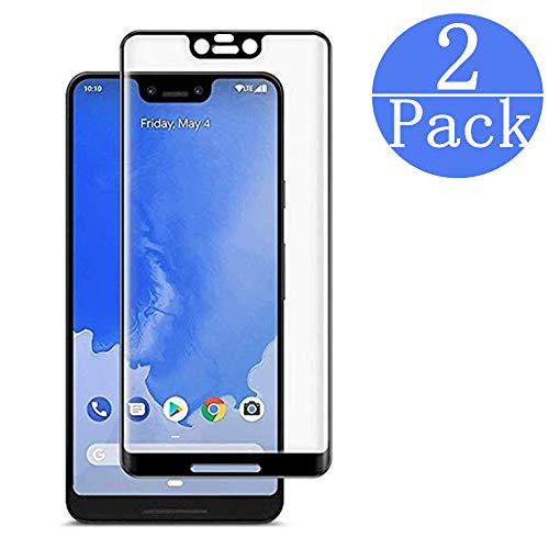 Google Pixel 3 XL Tempered Glass Screen Protector. EcoPestuGo [2-Pack] with 9H Hardness Protector Film [HD Clear][Anti-Scratch] [Anti-Bubble] [Case Friendly] Compatible Google Pixel 3 XL[Black]