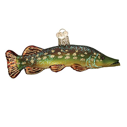 Pike Fish - Old World Christmas Ornaments: Pike Glass Blown Ornaments for Christmas Tree