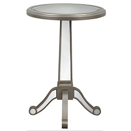 Table Round Mirrored - Décor Therapy Mirrored Pedestal Table, Champagne