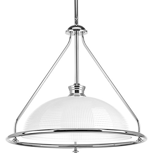 Progress Lighting P5119-15 Traditional/Casual 1-100W Med Pendant, Polished Chrome
