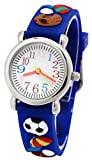 Tonnier 3D Kids Sport Watches Healthy Material Deepblue Rubber Band Children Watches I Love Sports Kids Watches for Boys