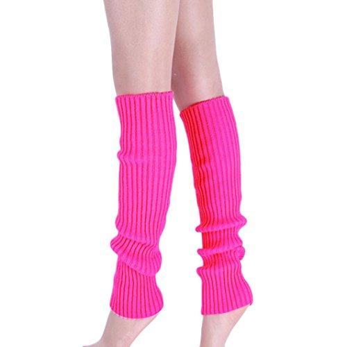 Creazy¨ Women Pure Colour Boot Cuffs Warmer Knit Leg Sockings