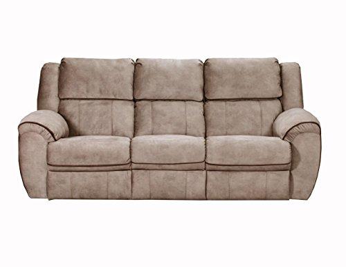 Simmons Upholstery 50436BR-53 Osborn Tan Osborn Double Motion Sofa, (Simmons Microfiber Sofa)