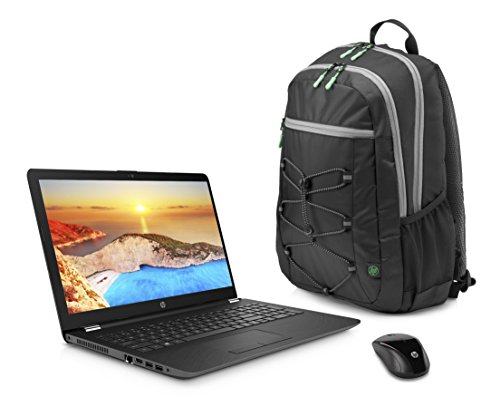 "HP 15.6"" HD Touch Screen Laptop Bundle (2018 Newest), AMD A12-9720P Quad core processor 2.7 GHz, 8GB DDR4, 1TB HDD, DVD, WiFi, Webcam, Windows 10, Gray, Wireless Mouse and Backpack Included."