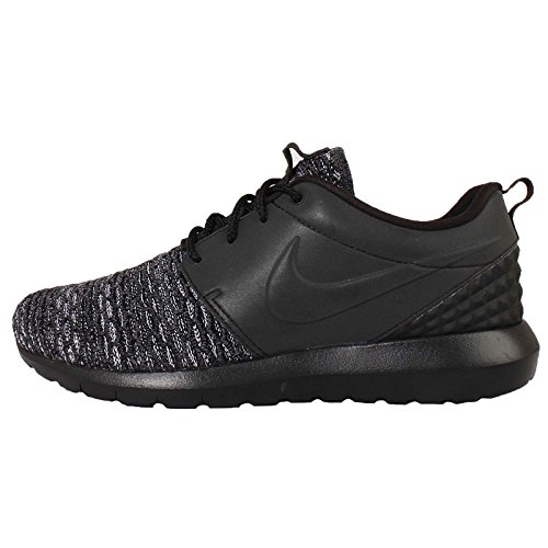 Nike Mens Roshe Nm Flyknit Prm Hardloopschoen Zwart Donkergrijs Wit 002