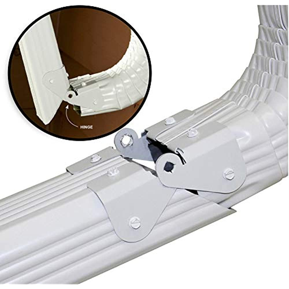 2 Pc Downspout Extension Gutter Hinge Fits 2x3 3x4 5