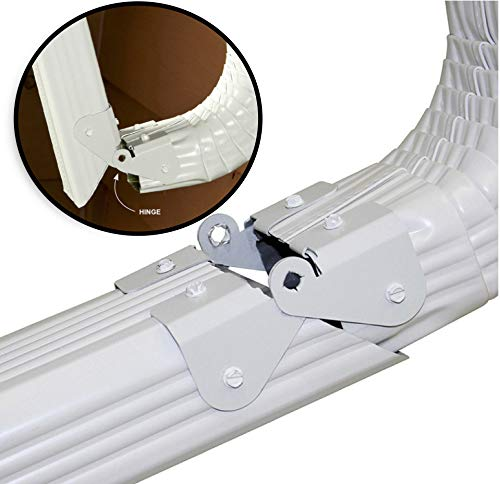 Zip Hinge - 4 Pack - Downspout Extension Gutter Hinge - Fits 2x3, 3x4, 5 inch, 6 inch - Universal Fit - Made in The USA