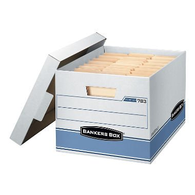 Bankers Box Heavy Duty 650 LB Storage Boxes, Extra Professional Grade (10 Heavy Duty Boxes)
