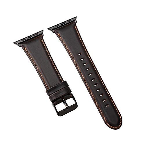 Pumsun Watch Band,Leather Strap Band Bracelet 42mm,for Apple Watch Series4 3 2 1 (Coffee)