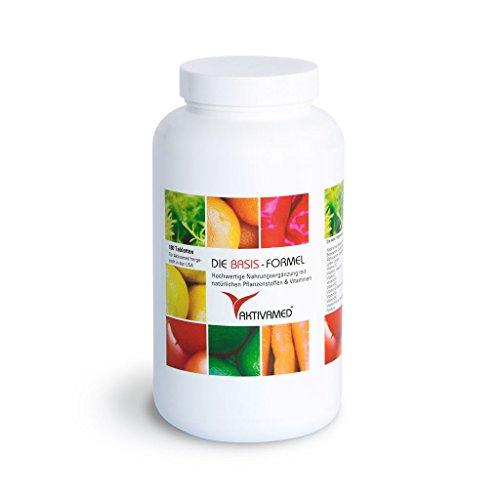 Basis-Formel Aktivamed Premium Multivitamin + Multimineral - 180 Tabletten hochdosiert. Über 32 Vitamine, Mineralien & Spurenelemente inkl. komplettem B-Komplex in einem Produkt. Mit Metafolin (verwertbarer Folsäure) & L-Acetylcystein (Glutathionsynthese)