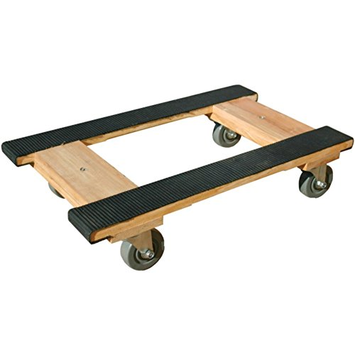 (Monster Trucks MT10001 Piano H Dolly Wood 4-Wheel W/Rubber Belting Tools , Hand)