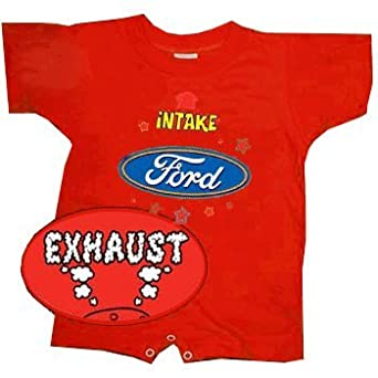8faac7177 Amazon.com: Ford Bodysuit Intake/Exhaust Infant Onesie (18-24 Months ...