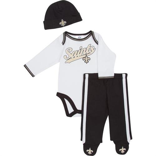 Gerber New Orleans Saints Infant Bodysuit, Pants, & Cap Set (6-9 MO)