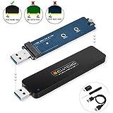 ELUTENG M.2 NVMe SSD ケース M Keyのみ対応 5Gbps UASP対応 高速データ転送 USB 3.0 GEN 1 外付けケース 2242 / 2260 / 2280 PCI-E ハードディスクケース USB メス オス変換ケーブル M.2 USB 変換 アダプタ ネジセット付き