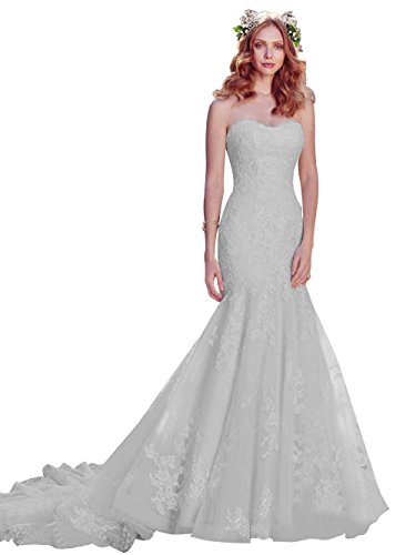 A7 Lace Wedding Neckline Applique Annies Gown Sweetheart Bodice Womens Bridal Mermaid TvxIqwaB6
